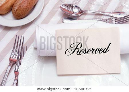 Reservierten Tisch