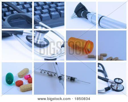 Montaje médica azul