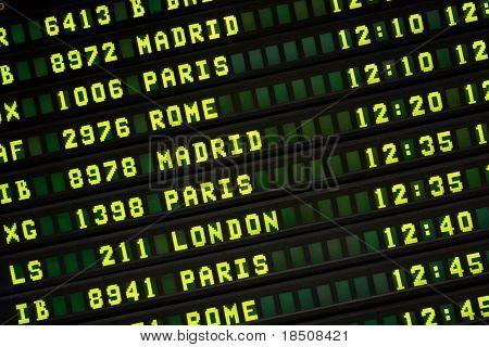 International Flight Information Board