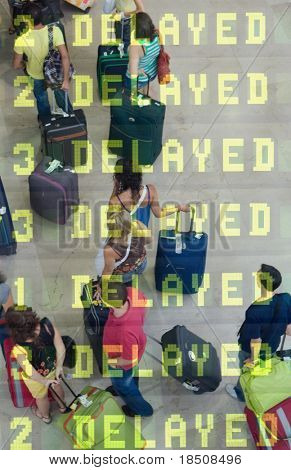 Delayed Travelers at the Airport
