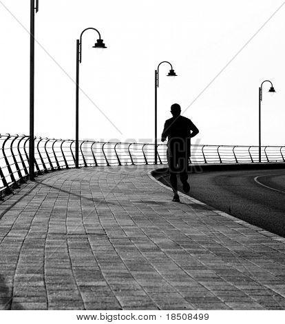 Lone jogger