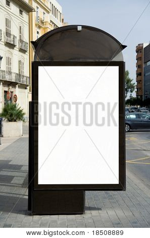 Leere Bushaltestelle Plakat