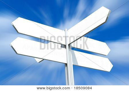 Blank Directional Sign