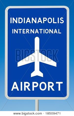Indianapolis International Airport Sign