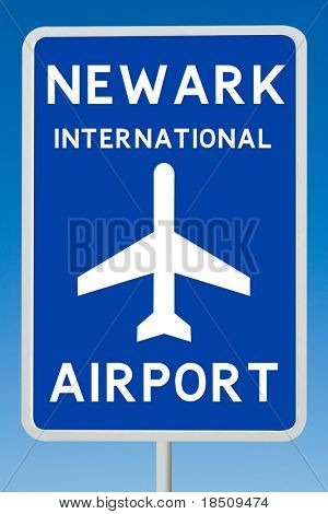 Newark International Airport Sign