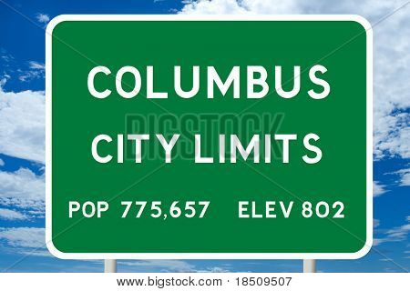 Columbus City Limits Sign