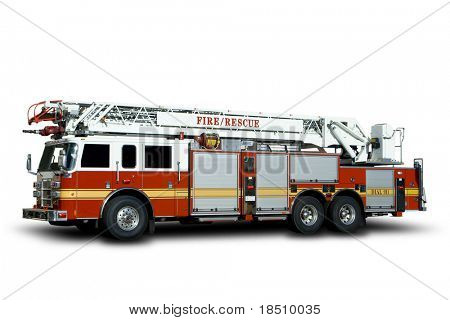 Fire Truck Isolated on White