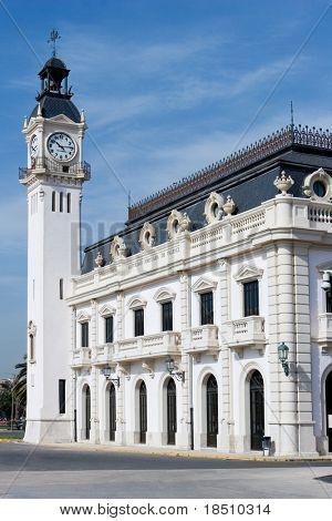 The Port Clock Building in Valencia, Spain