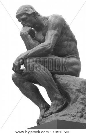 La estatua del pensador por el escultor francés Rodin