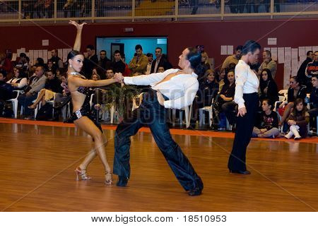 "VALENCIA, SPAIN - JANUARY 24: The ""9th Trofeo de Baile Deportivo Ciudad de Manises"" Dance Competition on January 24, 2010 in Valencia, Spain."