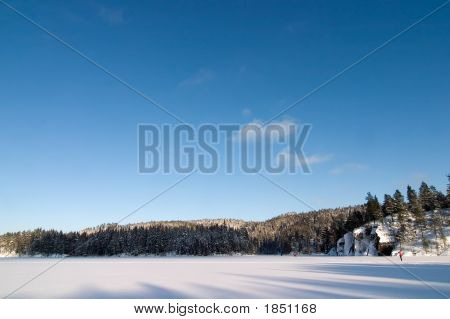 Frozen Lake Landscape