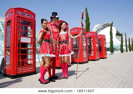 VALENCIA, SPAIN - JULY 10: Liquor supplier Pernod Ricard stated that its Beefeater gin has gained a strong presence in the travel-retail market. A Gin promotion on July 10, 2010 in Valencia Spain.
