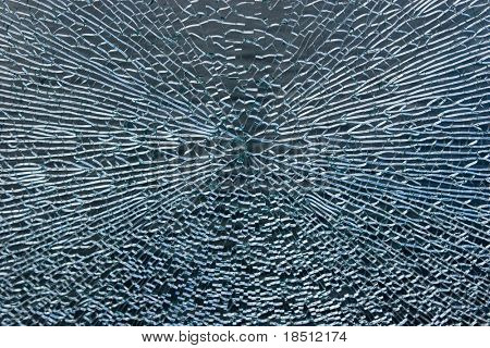 Broken Window Abstract Background