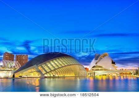 VALENCIA, SPAIN - NOV 14: The City of Arts and Sciences (CAC) receives a daily average of 9,373 visitors. 65% of which are from outside the region. The CAC on November 14, 2010 in Valencia, Spain.