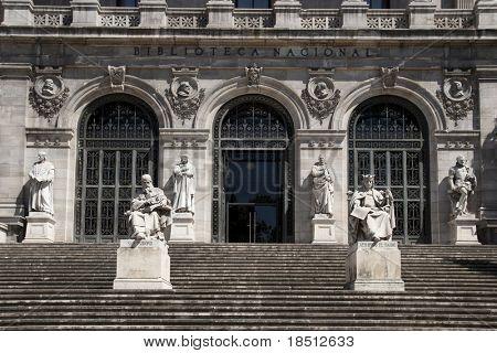 Biblioteca Nacional de España. Arquitectura en Madrid.
