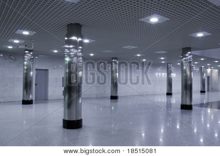 empty business hall in shopping mall
