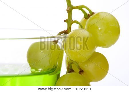 Grapes Dipped Into Liquor