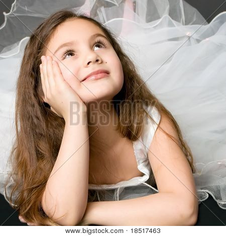 beautiful dreaming girl