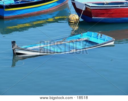 Versunkene Schiff