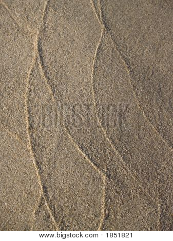Beaches: Sand Lines On Shore