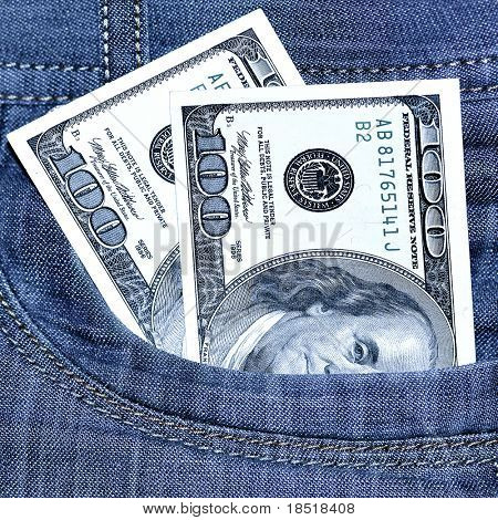 Two hundred Dollars in pocket of jeans