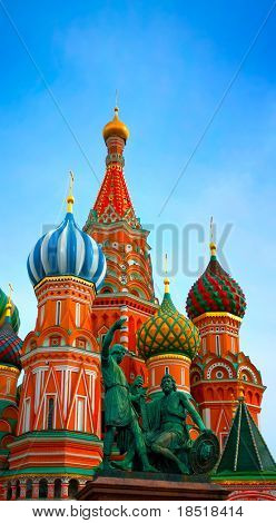 Saint Basils cathedral on Red Square in Moscow