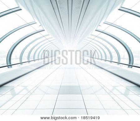 amplio hall moderno aeropuerto