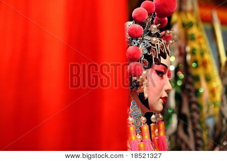 cantonese opera dummy with text space