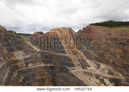 Tiefen Tagebau-Mine in South Dakota