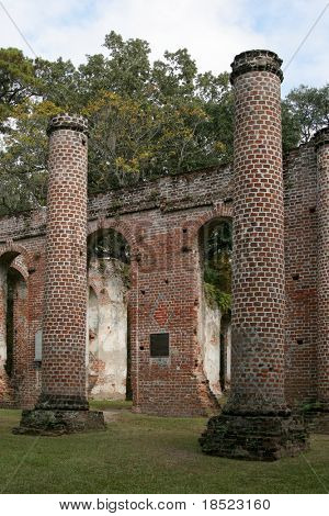 Ruins of an eighteenth century church