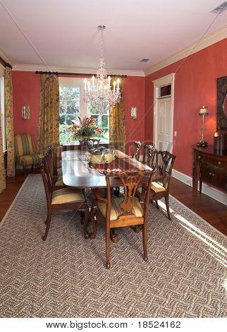 luxury diningroom in affluent home