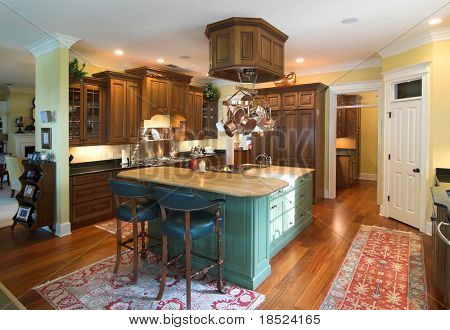 luxurious kitchen in affluent home