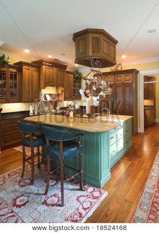 luxurious kitchen in affluent home