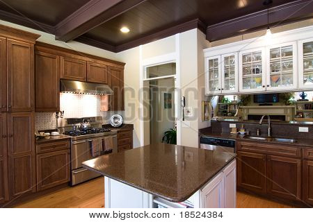 luxury kitchen in affluent home