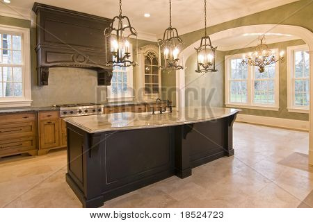 custom kitchen and diningroom