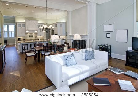 luxury studio apartment, open floorplan design