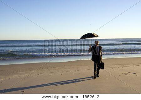 Business Beach Walk