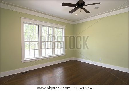 empty bedroom with windows, place your own furniture