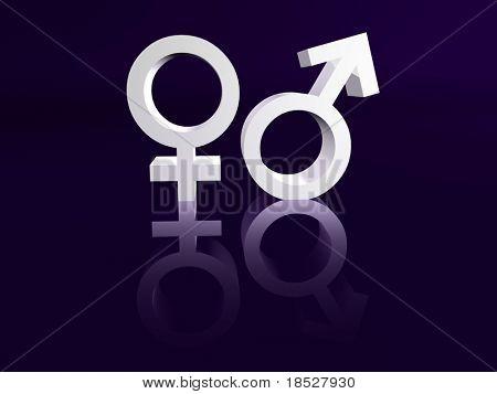 Männliche und weibliche Symbol