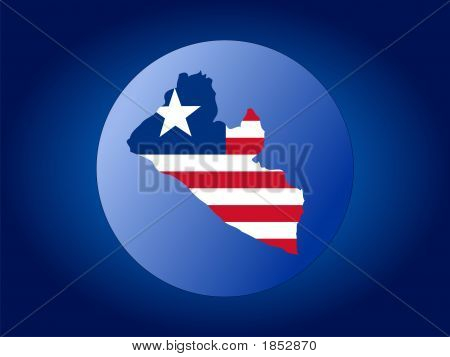 Liberia Globe Illustration