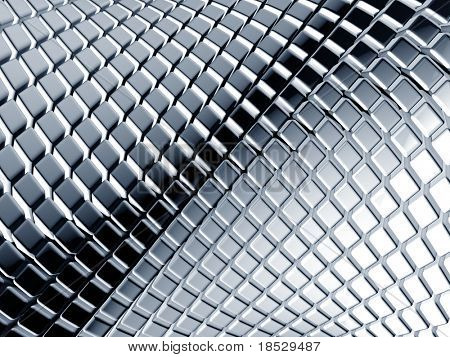 Abstract aluminum square background 3d illustration