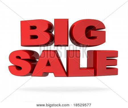 Big sale promotion concept isolated sign 3d illustration