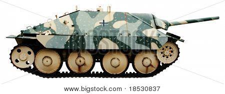 The Jagdpanzer 38 or Hetzer a German light tank destroyer of the Second World War