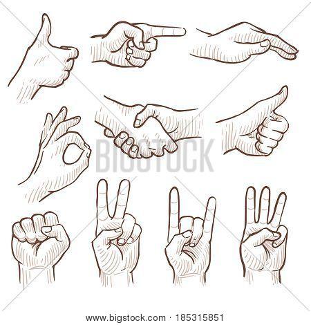 Hand Drawing Sketch Man Hands Vector U0026 Photo | Bigstock