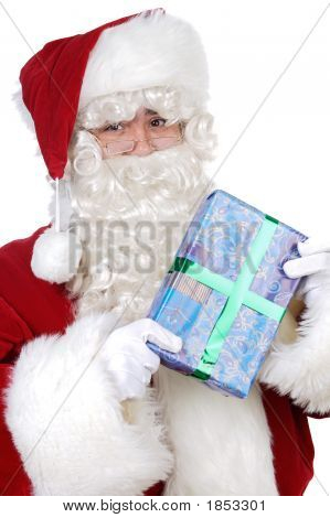 Santa Claus With A Gift