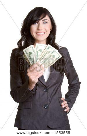 Geld-Frau