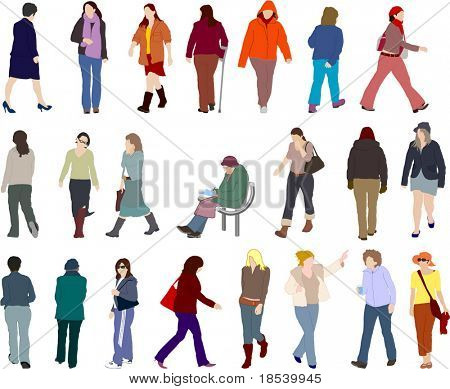 lots of people (vectors)