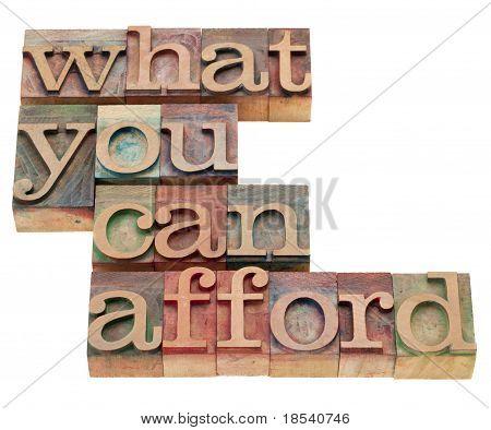 O que você pode pagar