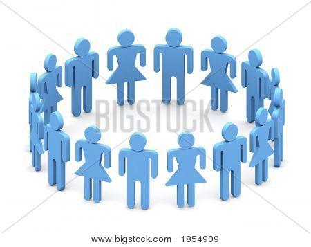 Logo 3D Team People