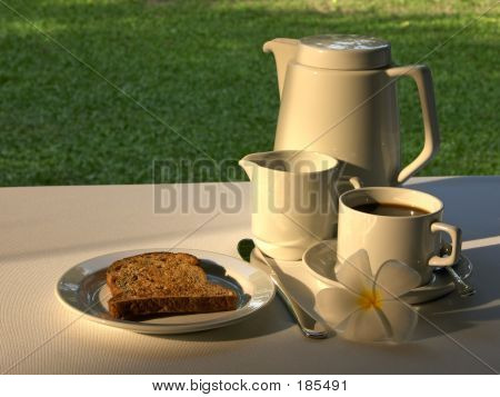 Simple Breakfast Of Toast & Coffee